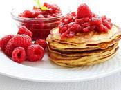 Apple Raspberry Sauce Ricotta Pancakes