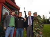 Democratic Congressman Rick Nolan Poses with Evil Black Assault Rifle