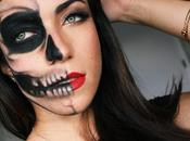 Half Skull Glamour (Last Minute) Halloween Makeup Tutorial