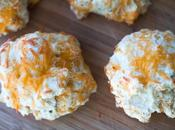 Cheddar Pepper Drop Biscuits Made with Homemade Baking