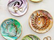 LOOK WHAT MADE!!! Marbleized Clay Ring Dishes
