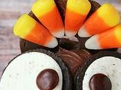 Wide Eyed Thanksgiving Turkey Cupcake with Candy Corn