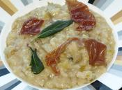 Pear Risotto with Prosciutto Fried Sage Leaves