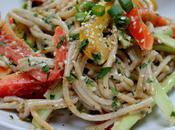 Food: Cold Sesame Tahini Pasta.