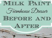 Milk Paint Farmhouse Dresser: Before After