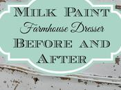 Milk Paint Farmhouse Dresser: Before After