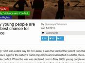 #ShapingConflict 'Why Young People Best Chance Peace' (Feature World Economic Forum Blog_