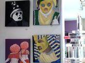 Mardi Gras Paintings Hanging Albert Brown Salon, Orleans