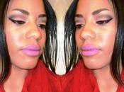 Makeup Look Purple Lips Smoky