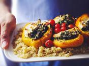 Roasted Spinach Ricotta Stuffed Bell Peppers