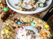 Oatmeal M&M Peanut Butter Skillet Cookie