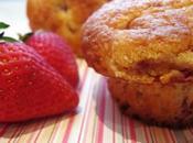 Strawberry Lemon Cornmeal Muffins