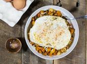 Root Vegetable Hash with Eggs Aged Cheddar