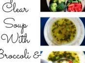 Vegetable Clear Soup with Broccoli Carrots