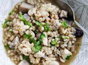 Mushroom, Chicken Barley Soup