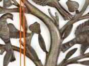 Jewelry Hanger from Haiti Birds Breadfruit Tree