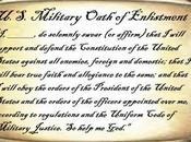 U.S. Military's Oath Enlistment