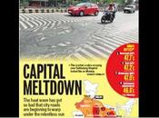 Heat Wave India Severe Roads Melting