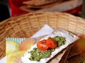 FINN CRISP Thin Crispbread with Kale-Basil Pesto