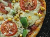 Bell Peppers, Sweet Corn Tomato Cheese Thin Crust Pizza: Whole Wheat Dough: Vegetarian Pizza