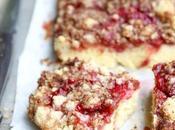 Strawberry Crumble Tray Bake