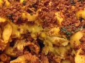 Buffalo Curls Cheese with Crumble