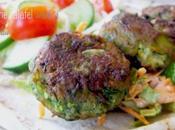 Edamame Falafel with Kale Slaw