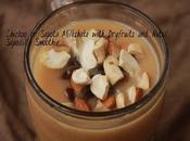 Chickoo Sapota Milkshake with Dryfruits Nuts/ Sapodilla Smoothie