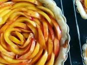Peach Honey Rose Tart