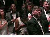 Reporter Helena Andrews Texting During Pledge Allegiance