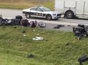 Motorcyclists Tractor-Trailer After Truck Veers Interstate