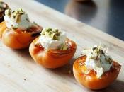 Caramelized Apricots with Ricotta Pistachios
