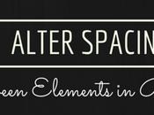 Alter Spacing Between Design Elements Blogger