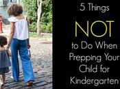 Things When Prepping Your Child Kindergarten