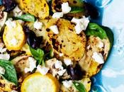 Grilled Sweet Potatoes, Zucchini Yellow Squash with Olives Feta