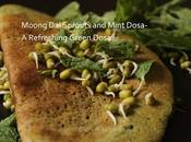 Moong Sprouts Mint Dosa- Refreshing Green Dosa...