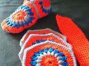 Unisex Crocheted Hexagon Slippers