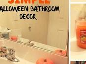 Simple Halloween Bathroom Decorating