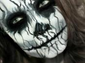 Black White Demon Spooky Halloween Makeup