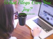What Blogs Give Joy?