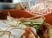 Quick Cheesy Chicken Wraps with Onion Tomato Salad