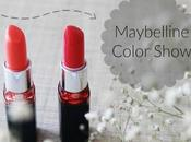 Maybelline Color Show Lipstick Swatches