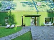 This Bright Green Prefab Sweden Looks Just Like Monopoly House