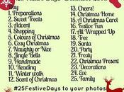 #25FestiveDays December Instagram Photo Challenge