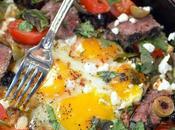 Bacon Dripping Skillet Steak Eggs