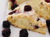 Food: Creamed Blackberry Ginger Lemon Scones.