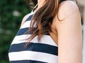 Blue White Striped Long Dress