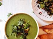 Creamy Spinach, Broccoli Cilantro Soup.