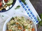 Greek Style Lemon Rice with Dill