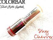 Colorbar Velvet Matte Lipstick Cherry Review, Swatches, Lips